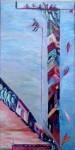 Peinards à Mexico - huile sur toile 40 x 20