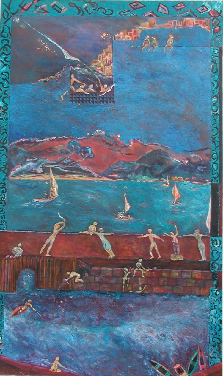 L'île d'en face - huile sur toile 163 x 97