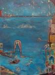 Le ciel étoilé - huile sur toile 130 x 97