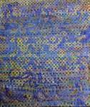 La danse bleue- bannière souple Tressage de toile-acrylique et huile 185 x 153
