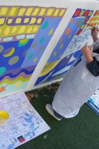Ensemble sur un projet de fresque murale
