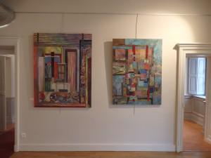 """mes deux dernières toiles : """"l'atelier""""et """"la lettre"""""""